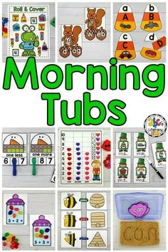 Are you looking for a better way to start the day? new morning routine? If you want to start a new routine in the morning, try an entire year of Morning Tub Activities.Your students will engage in independent, hands-on activities and have fun reviewing and learning with friends. These hands-on activities allow students time in the morning to get ready for a productive day of learning. Click on the picture to learn more about these morning work activities! #morningtubs #morningtubactivities