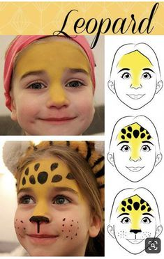 Carnival Make-up Faces Leopard and Butterfly - .- Karnevals-Schmink-Gesichter Leopard und Schmetterling – Carnival Make-up Faces Leopard and Butterfly – - Kids Makeup, Face Makeup, Makeup Ideas, Eyeliner Makeup, Cheap Makeup, Prom Makeup, Makeup Tutorials, Wedding Makeup, Leopard Face Paint