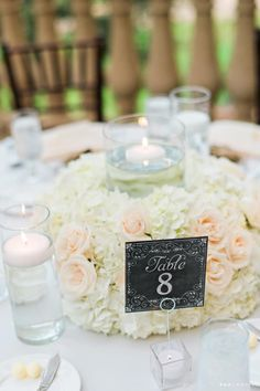Green and White Wedding, Reception Floral | Kristen Weaver Photography | Vangie's Events of Distinction