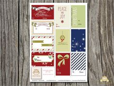 {FREEBIE} PRINTABLE HOLIDAY GIFT TAGS