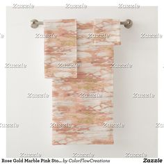 Shop Rose Gold Marble Pink Stone Bath Towels created by ColorFlowCreations. Spa Towels, Bathroom Towels, Stone Bath, Rose Gold Marble, Bath Towel Sets, Luxury Bath, Pink Stone, Print Design, Europe