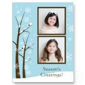 Christmas postcards. What a great idea to save money on cards & postage.