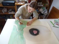 Experimenting with small format drawings became a body of over 600 works