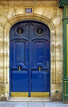 Blue doors in Paris.