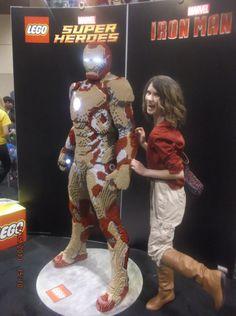 Me with Iron Man lego!! Toronto Fan Expo 2013