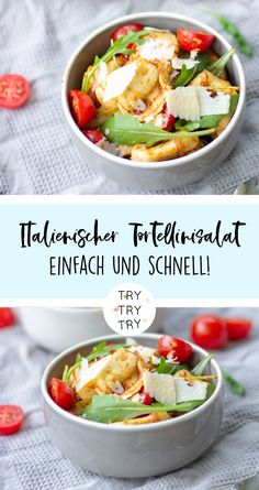 Italian tortellini salad / salad for barbecues or parties Salat Pesto Tortellini, Tortellini Skewers, Healthy Diet Recipes, Healthy Appetizers, Appetizer Recipes, Salad Recipes, Feta Salad, Salad Bar, Party