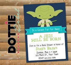 Items Similar To Printable Star Wars Inspired Baby Yoda Shower