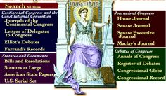 A Century of Lawmaking for a New Nation: U.S. Congressional Documents and Debates, 1774-1873
