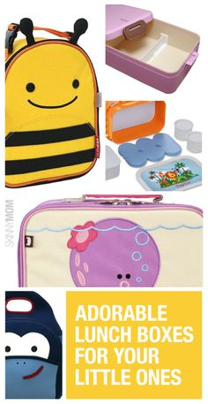 Check out these super cute lunch boxes for your kiddos!