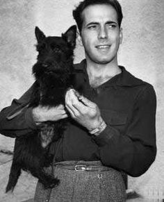 Humphrey Bogart and his scottie.  Seriously?  He had a scottie?  No wonder I love him so much!