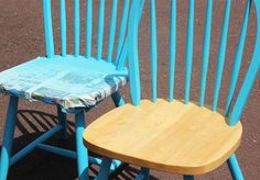 How to spray paint wood chairs                                                                                                                                                     More