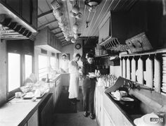 Kitchen in a Great Eastern Railway carriage, 1910