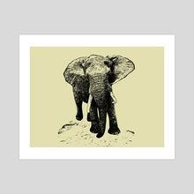 Art Prints by Gvardian Gyula - INPRNT Jungle Safari, Wildlife, Elephant, Art Prints, Gallery, Artist, Artwork, Animals, Art Impressions