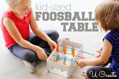 DIY Mini Foosball Table...perfect for kids!
