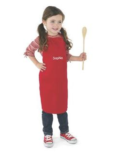 CHEFS APRON: Every cook needs a great apron, whether cooking, baking, or just pretending! This high-quality children's apron makes kids feel like pros and keeps clothing clean. For the real kitchen and the play kitchen. Made of poly/cotton, with straps...