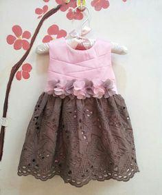 Look at this #zulilyfind! Pink & Brown Eyelet Dress - Infant, Toddler & Girls by Sweet Charlotte #zulilyfinds