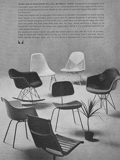 Various Eames Chair Designs