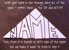 Name kaleidoscope art - Grade 4/5/6
