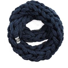 Handsome Badger - Women's Hearn Infinity Scarf in Navy (51.475 CRC) ❤ liked on Polyvore featuring accessories, scarves, tube scarves, hand knitted scarves, tube scarf, navy blue infinity scarf and circle scarves