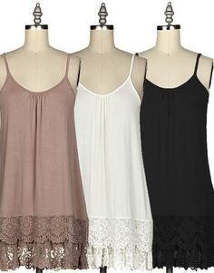 High Quality Crochet Lace Layered Cami Dress. Adjustable Straps. 95% Rayon 5% Spandex