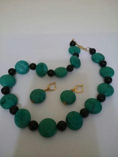 Conjunto turquesa verde e Ágata 80,00