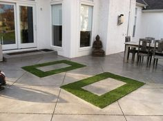 Great use of SYNLawn synthetic grass cut right into the patio. Beautiful and contemporary!   Call Summit Flooring & Turf for your free estimate 816 886 2747 or stop by our gorgeous design center at 1051 SE Century Drive Lee's Summit MO 64081.