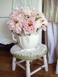 Banquinho com flores