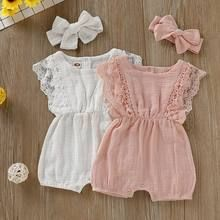 and baby fashion Baby Girls Lace Ruffle-sleeve Ramie Cotton Romper Headband Set Baby Overall, Cute Baby Clothes, Baby Girl Clothes Summer, Clothes For Babies, Baby Girl Clothing, Hipster Baby Clothes, Newborn Clothing, Baby Boutique Clothing, Vintage Baby Clothes