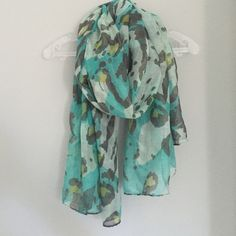 BP scarf Blue/white/black/lime green scarf from Nordstrom BP bp Accessories Scarves & Wraps