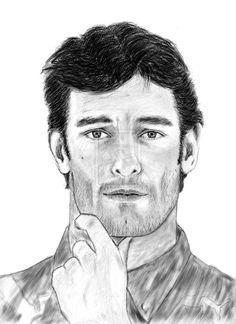 Drawing Mark Webber by carlosirigoyen.deviantart.com on @deviantART