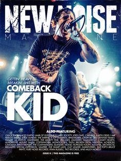 Issue #8 - Comeback Kid  #ComebackKid #VictoryRecords Self Defense Family, La Dispute, Print Magazine, Magazine Covers, Victorious, Comebacks, Punk, Kids, Movie Posters