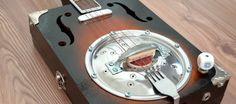 """The Blues Kitchen II"" cigar box resonator guitar"