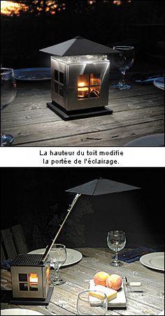 Le fonctionnement de la lanterne repose sur un phénomène connu sous le nom d'effet Seebeck : un thermocouple génère de l'électricité en exploitant la différence de température entre l'air à l'intérieur de la lanterne et celui à l'extérieur, plus froid. Aussi longtemps que la bougie brûle dans la boîte de la lanterne, les ampoules à DEL diffusent de la lumière.