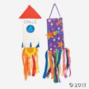 Another  big-bang-easy project....windsocks! Paper, streamers....any kind of neat add ons....crafting fun PLUS running around fun after its done!