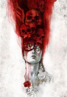 Dracula by Beatriz Martin Vidal - Skullspiration.com - skull designs, art, fashion and more