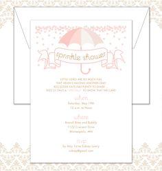Umbrella Sprinkle Shower Invitation by SpillingBeans on Etsy https://www.etsy.com/listing/99237347/umbrella-sprinkle-shower-invitation