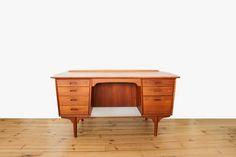 Danish vintage office desk in teakwood by Svend Aage Madsen Danish Modern Midcentury modern