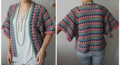 Get An Elegant Finishing Touch With This Classic Granny Stripe Cardigan - Knit And Crochet Daily