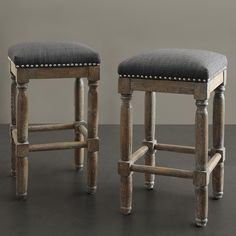 Renate Grey Counter Stools (Set of 2) | Overstock.com Shopping - Great Deals on Bar Stools