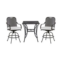 Hampton Bay Fall River 3-Piece Patio High Bistro Set with Bare Cushion-DY11034-HD-B at The Home Depot