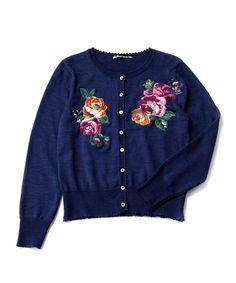 Jane Marple floral cardigan