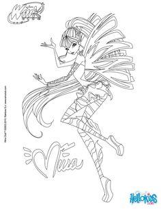 Musa - transformation Sirenix coloring page