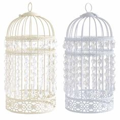 Antique Style Bird Cage Ceiling Light Pendant Shade Acrylic Crystal Droplet Bead in Home, Furniture & DIY, Lighting, Lampshades & Lightshades | eBay!