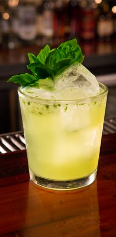 Gin basil smash. Emphasis on the gin.