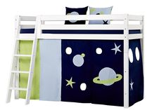 Curtain for Halfhigh Space bed by Hoppekids High Beds, Kids Furniture, Sofa Bed, Bunk Beds, Toddler Bed, Kids Rugs, Curtains, Space, Children