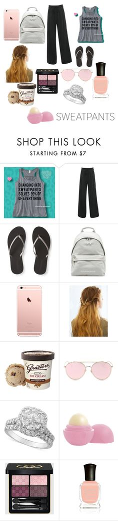 """Sweats"" by natalie83322 ❤ liked on Polyvore featuring Aéropostale, WithChic, LMNT, Eos, Gucci and Deborah Lippmann"
