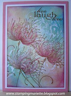 "2/7/2013; Mariette at 'Stamping Mariëtte' blog; Penny Black ""Dreamy"" stamp"
