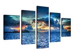 Canvas Painting Wall Art Sunset Sea Framed Ready to Hang ... https://smile.amazon.com/dp/B072KCXJSR/ref=cm_sw_r_pi_dp_x_-2n7zb4HSJWEB
