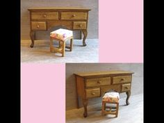 tutorial: miniature dressing table with stool