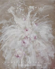beautiful shabby chic style Tutu painting available at www.debicoules.com